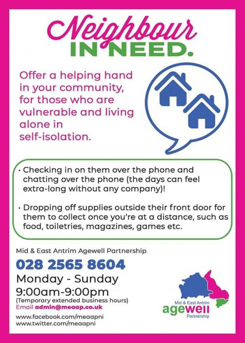 Mid and East Antrim Age Well Partnership Help Line